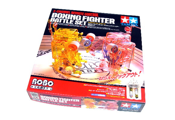 Tamiya ROBO Model Mechanical 2ch Remote Control Boxing Fighter Battle Set 71113