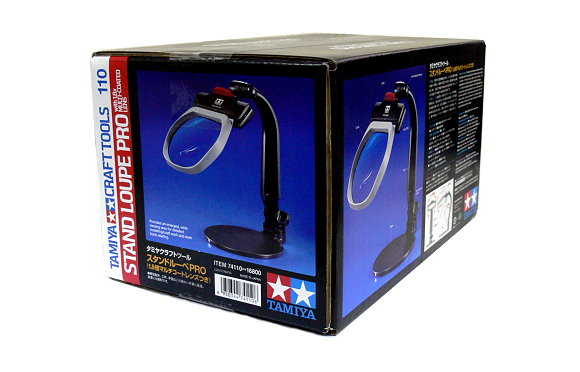 Tamiya Model Craft Tools Stand Loupe Pro with 1.8x Multi-Coated Lens 74110