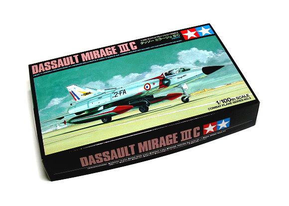 Tamiya Aircraft Model 1/100 Airplane Dassault Mirage III C Scale Hobby 61603