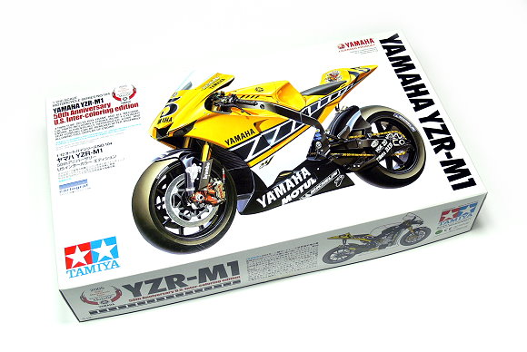 Tamiya Motorcycle Model 1/12 Motorbike YAMAHA YZR-M1 50th Edition Hobby 14104
