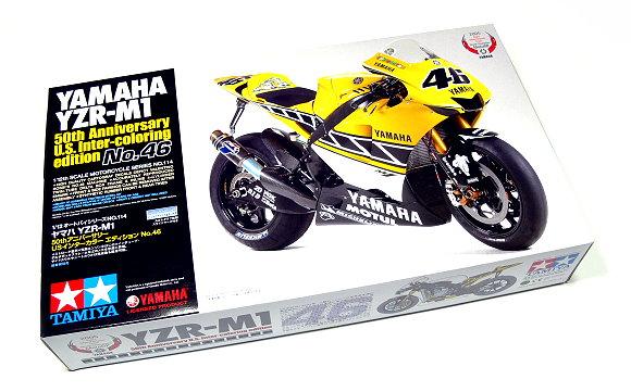 Tamiya Motorcycle Model 1/12 Motorbike YAMAHA YZR-M1 50th Edition Hobby 14114