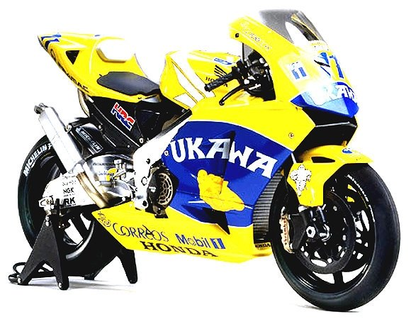 Tamiya Motorcycle Model 1/12 Motorbike Honda Pons RC211V 03 UKAWA Finished 21018