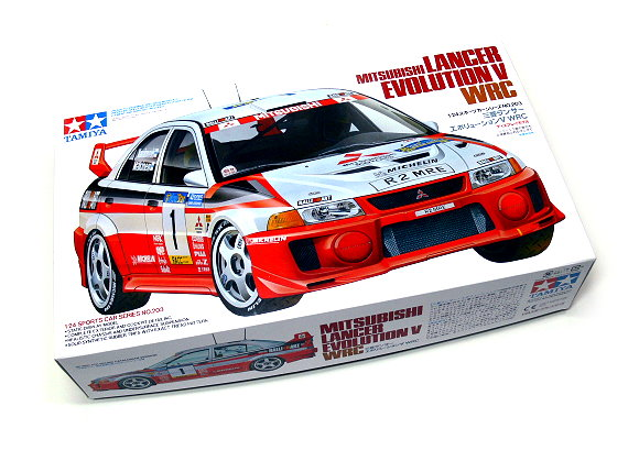 Tamiya Automotive Model 1/24 Car Mitsubishi Lancer Evo. V Scale Hobby 24203
