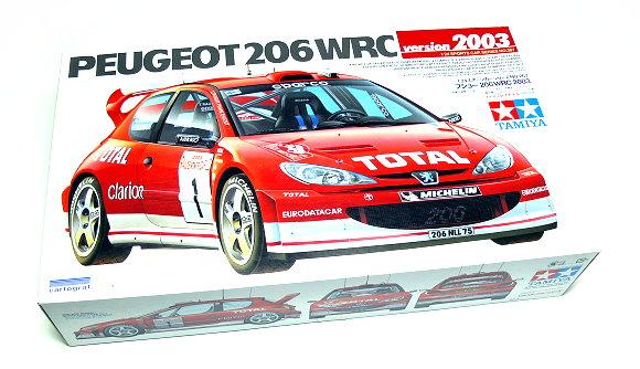 Tamiya Automotive Model 1/24 Car Peugeot 206WRC 2003 Scale Hobby 24267