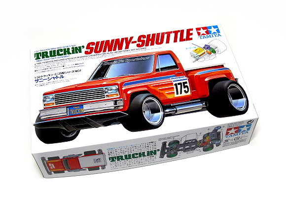 Tamiya Model Mini 4WD Racing Car 1/32 Truckin Sunny-Shuttle Hobby 17501