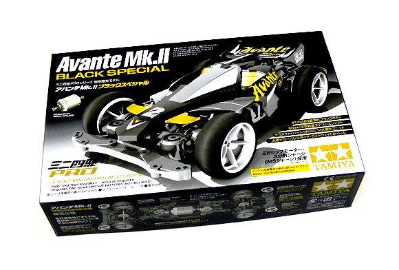 Tamiya Model Mini 4WD Racing Car 1/32 Avante Mk.II Black Special Hobby 94626