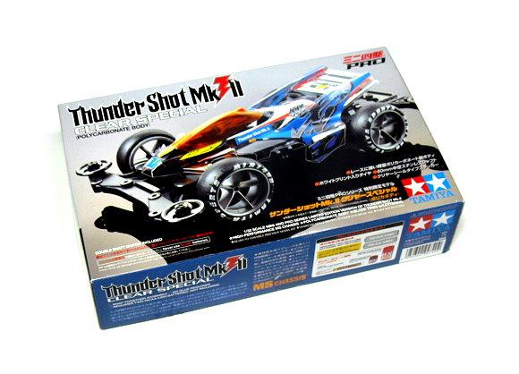 Tamiya Model Mini 4WD Racing Car 1/32 Thunder Shot MkII CLEAR S. Hobby 94740