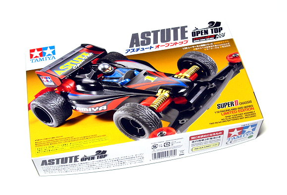 Tamiya Model Mini 4WD Racing Car 1/32 Astute Open Top Toy Hobby 94813