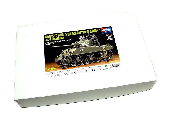 Tamiya Military Model 1/35 M4A2(76)W Sherman Red Army Scale Hobby 25105