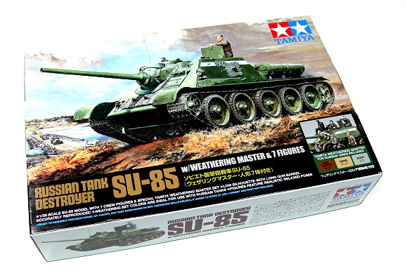 Tamiya Military Model 1/35 Russian Tank Destroyer SU-85 Scale Hobby 25110