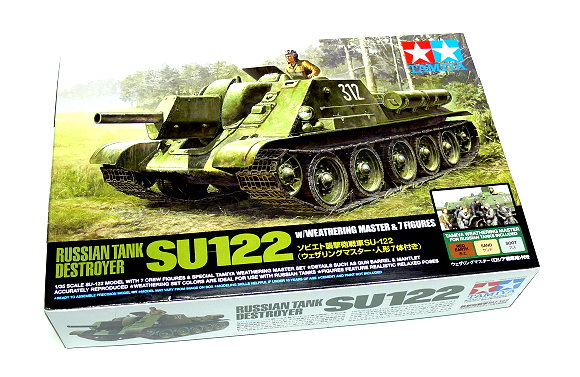 Tamiya Military Model 1/35 Russian Tank Destroyer SU122 Scale Hobby 25111