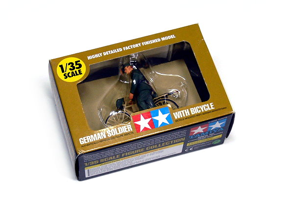 Tamiya Military Model 1/35 German Soldier with Bicycle Figure Scale Hobby 26017