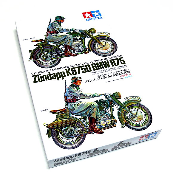 Tamiya Military Model 1/35 German Motorcycle BMW R75 Scale Hobby 35023