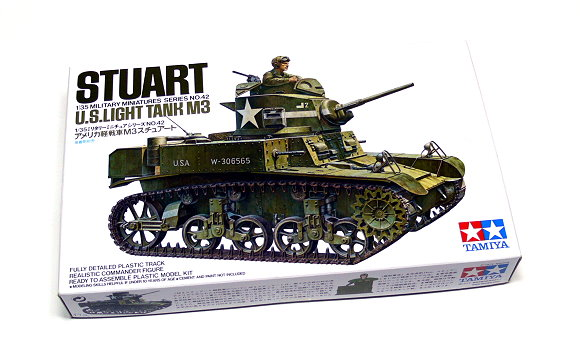 Tamiya Military Model 1/35 STUART MkI US Light Tank M3 Scale Hobby 35042