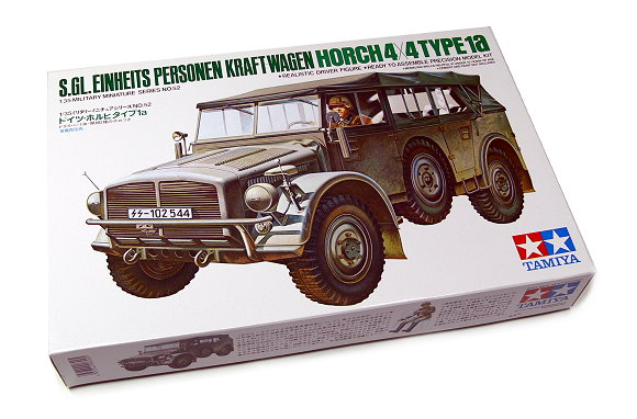 Tamiya Military Model 1/35 HORCH 4x4 TYPE1a KRAFT-WAGEN Scale Hobby 35052