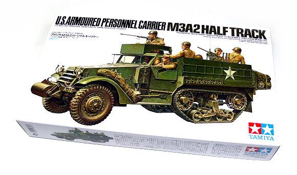 Tamiya Military Model 1/35 U.S. Carrier M3A2 Half Track Scale Hobby 35070