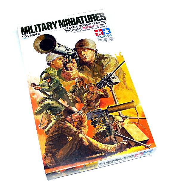 Tamiya Military Model 1/35 U.S. Gun & Mortar Team Set Scale Hobby 35086