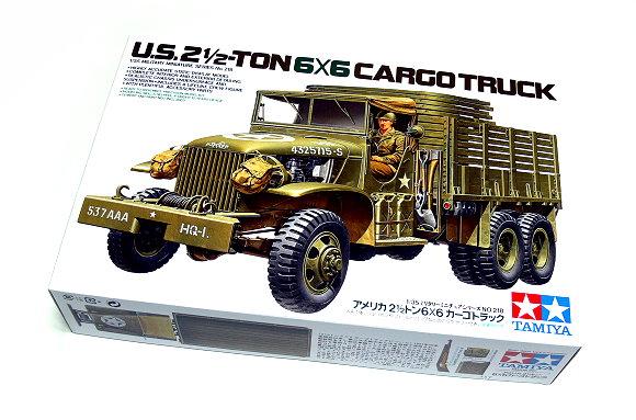 Tamiya Military Model 1/35 U.S. 2.5-Ton 6x6 Cargo Truck Scale Hobby 35218