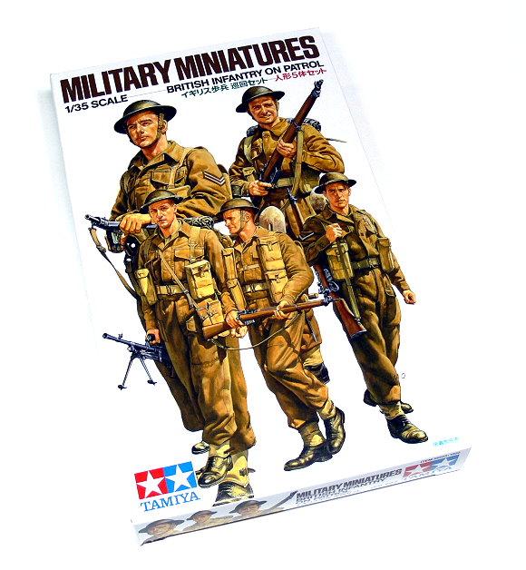 Tamiya Military Model 1/35 British Infantry On Patrol Scale Hobby 35223