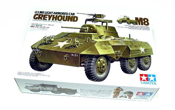 Tamiya Military Model 1/35 GREYHOUND U.S.M8 Armored Car Scale Hobby 35228