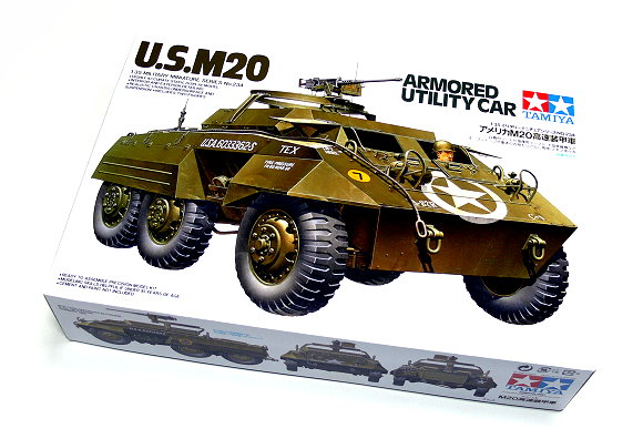 Tamiya Military Model 1/35 U.S. M20 Armored Utility Car Scale Hobby 35234