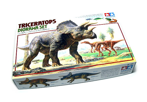 Tamiya Dinosaur Model 1/35 Diorama Set Triceratops Scale Hobby 60104