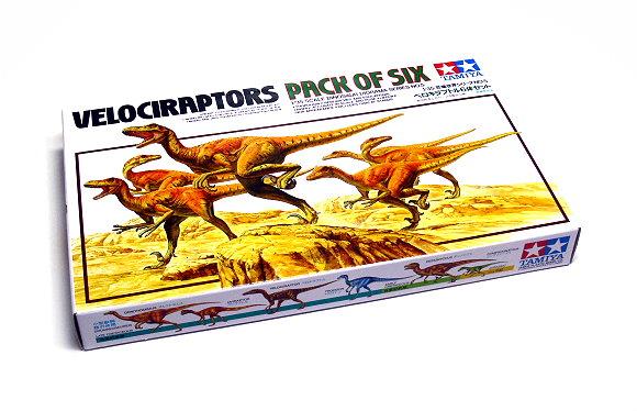 Tamiya Dinosaur Model 1/35 Diorama Set Six Velociraptors Scale Hobby 60105