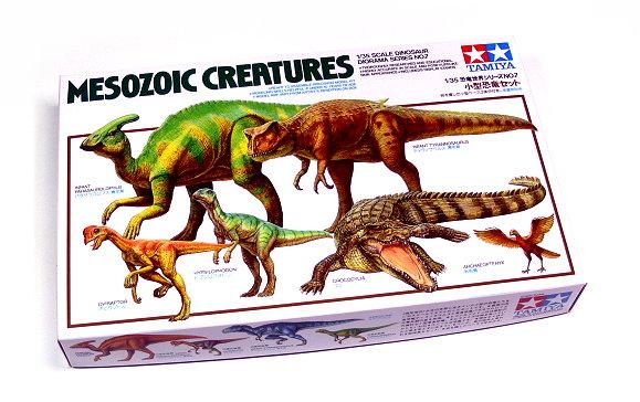 Tamiya Dinosaur Model 1/35 Diorama Set Mesozoic Creatures Scale Hobby 60107