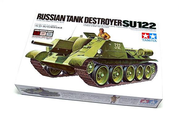 Tamiya Military Model 1/35 Russian Tank DESTROYER SU122 Scale Hobby 89798