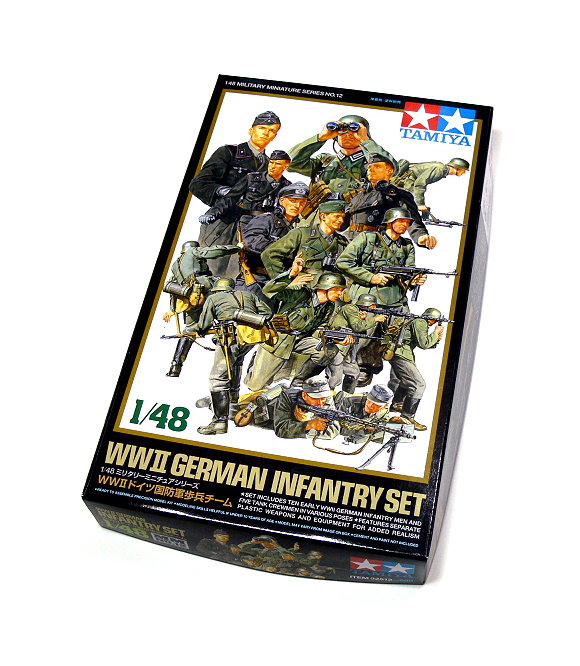 Tamiya Military Model 1/48 WWII German Infantry Set Scale Hobby 32512