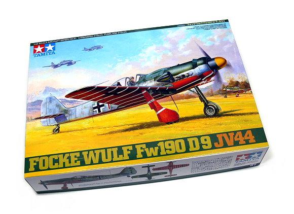 Tamiya Aircraft Model 1/48 Airplane Focke-Wulf Fw190 D-9 JV44 Scale Hobby 61081