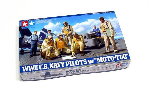 Tamiya Aircraft Model 1/48 Airplane US Navy Pilots with Moto-Tug Hobby 61107