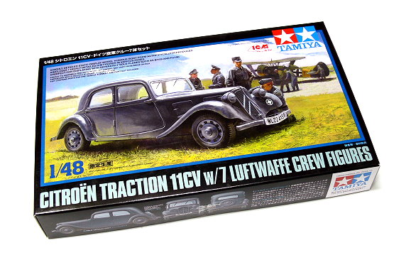 Tamiya Military Model 1/48 Traction 11CV with 7 Crew Scale Hobby 89731