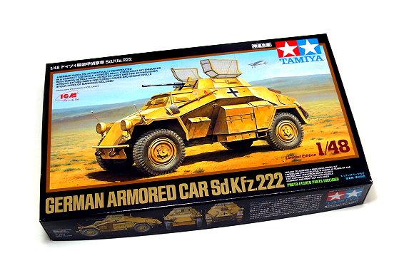 Tamiya Military Model 1/48 Ger Armored Car Sd.Kfz.222 Scale Hobby 89777
