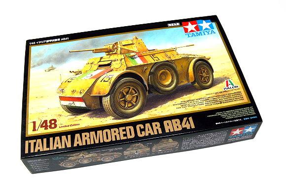 Tamiya Military Model 1/48 Italian Armored Car AB41 Scale Hobby 89778