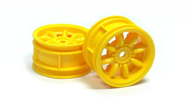 Tamiya RC Model Mini Cooper Yellow Wheels (2pcs) 49040