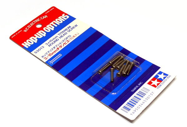 Tamiya RC Model 3x15mm Titanium Round Head Screw (10pcs) 53013