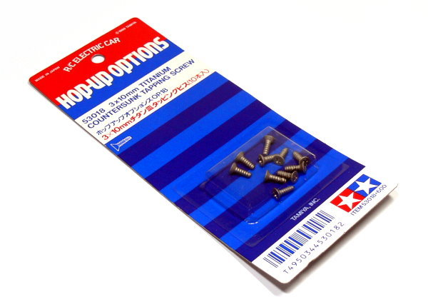 Tamiya RC Model 3x10mm Titanium Tapping Screw (10pcs) 53018