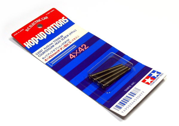 Tamiya RC Model 4x42mm Titanium Countersunk Screw (4pcs) 53097