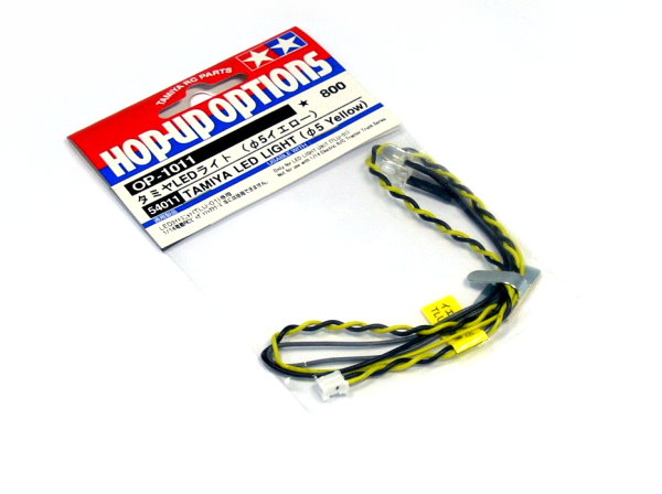 Tamiya RC Model LED Light (Diameter 5mm, Yellow, 2pcs) 54011