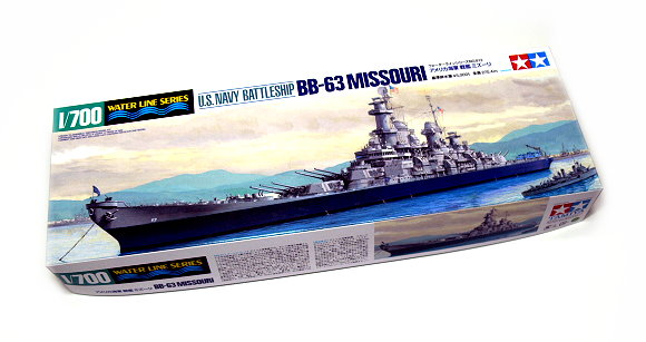 Tamiya Military Model 1/700 War Ship Battleship BB-63 MISSOURI Scale Hobby 31613
