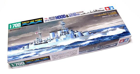 Tamiya Military Model 1/700 War Ship British Battle Cruiser HOOD Hobby 31806