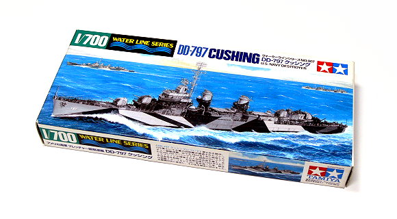 Tamiya Military Model 1/700 War Ship DD-797 CUSHING US Destroyer Hobby 31907