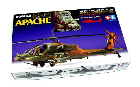 Tamiya Helicopter Model 1/72 HUGHES AH-64 APACHE Scale Hobby 60707