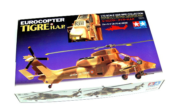 Tamiya Helicopter Model 1/72 EUROCOPTER TIGRE H.A.P. Scale Hobby 60710