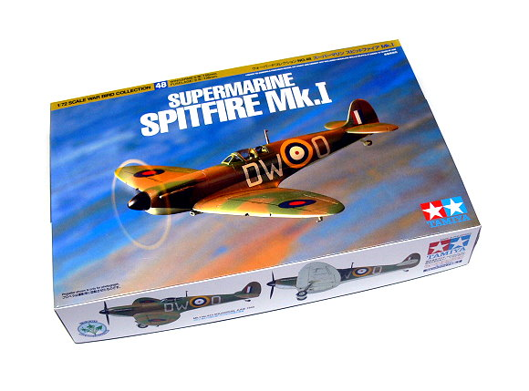 Tamiya Aircraft Model 1/72 Airplane Supermarine Spitfire Mk.1 Scale Hobby 60748