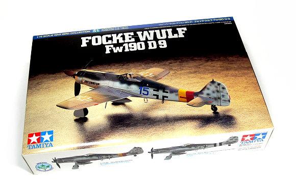 Tamiya Aircraft Model 1/72 Airplane FOCKE-WULF Fw190 D-9 Scale Hobby 60751