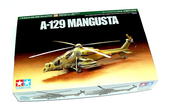 Tamiya Helicopter Model 1/72 A-129 MANGUSTA Scale Hobby 60758