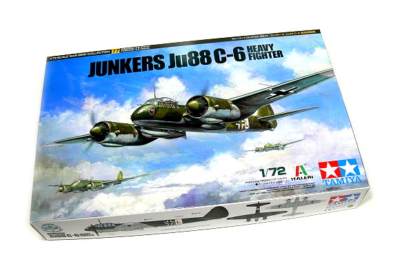 Tamiya Aircraft Model 1/72 Airplane Junkers Ju-88 C-6 Scale Hobby 60777