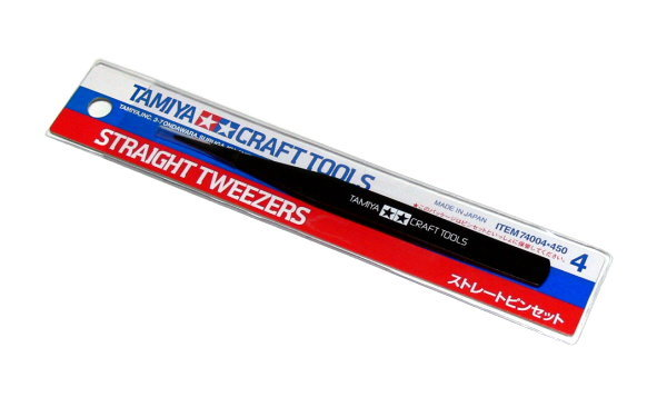 Tamiya Model Craft Tools Straight Tweezers 74004